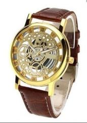 New Brown Open Time Super Stylish Wrist Watch For Men Women