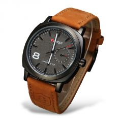 New stylish and sober leather watch for men