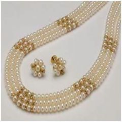 Shop or Gift New Stylish Special Party Wear Pearl Set For Women Online.