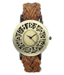 NEW FANCY LEATHER LADIES WRIST WATCH- CHLBR