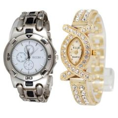 Shop or Gift New Stylish 2 Watches For Men & Women mfpw36201218 Online.