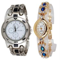 Shop or Gift New Stylish 2 Watches For Men & Women mfpw36201221 Online.