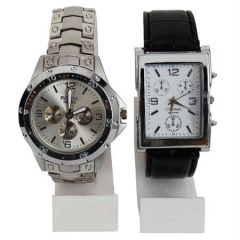Shop or Gift New 2 Stylish Leather & Steel Watch mfpw3620127 Online.