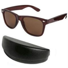 Classic Brown Wayfarer Sunglasses With Hard Case
