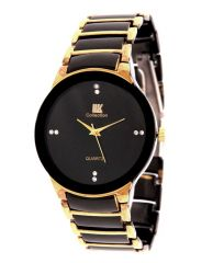 Iik Collection Black Gold Analog Watch