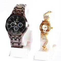 Shop or Gift Couple Wrist Watch Set For Ik Collection Online.