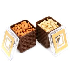 Dryfruits - Imagica Set of 2 Cashew, Almonds Air Tight Containers