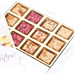 Indian Sweets - Natural Fruit Assorted Sugarfree Sweets White Box