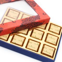 Mother's Day Gifts   Chocolates & Mithais - Mothers Day Gifts- Orange Printed Assorted Chocolate Box