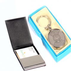Gifts Hamper-Card Holder and 50 year Calender Keychain