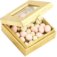 Diwali Chocolates - Golden Small Chocolate Coated Fruit Box