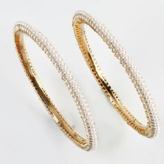 Pearl Bangles, Bracelets - Evergreen Pearl Bangles For Mothers Day