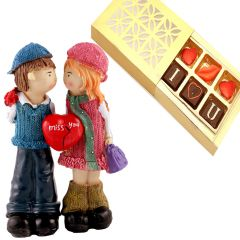 Valentine Gifts   Gift Hampers - Valentine Gifts - Half Heart Couple CC-115