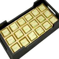 Diwali Chocolates Hamper -  Wooden Serving Tray with 18 Pc Mixed Nuts Chocolates