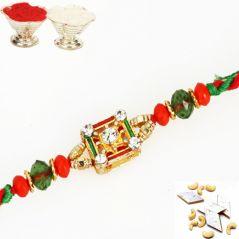 Rakhis & Gifts (USA) - FT- 1087 Fancy Thread Rakhi
