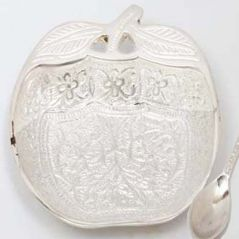 Ghasitaram Gifts-Silver Apple Tray