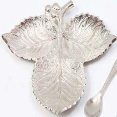 Ghasitaram Gifts-Silver Leaf Tray