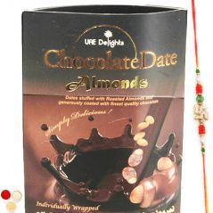 Chocolate Date Almonds with Pearl Rakhi