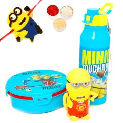 Kids Gifts with Rakhi-Insulated Tiffin Bottle Tissue Set