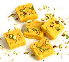 Sweets-Ghasitaram Gifts Kesar mawa barfi