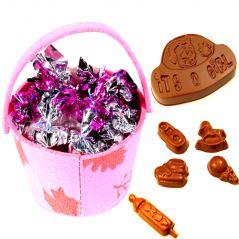Chocolate-Pink Basket
