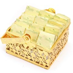 Diwali Chocolates - Golden Small Chocolate basket