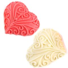Valentine Gift-Set Of 2 Designer Chocolate Hearts
