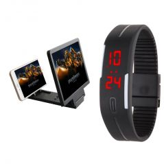 Shop or Gift Snaptic 3D Folding Mobile Phone HD Screen Magnifier with Jelly LED Watch Online.