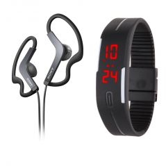 Shop or Gift Sony OEM MDR-AS200 Sport Stereo Earphones with Mic and LED Jelly Watch Online.