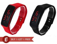Buy 1 Get 1 Free- Snaptic Led Sports Trendy Digital Jelly Watch - Buy One Get One Free