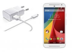 Shop or Gift Micro USB White Charger for Motorola Moto G 2nd Gen Online.