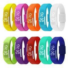 Buy 1 Get 1 Free - Snaptic Led Jelly Slim Trendy Digital Watch - Buy One Get One Free