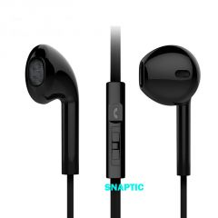 Snaptic Noise Isolation Noodle Stereo Headset Earpods with Mic for Samsung Galaxy NOTE PRO 12.2
