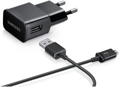 Snaptic Hi Quality Black USB Travel Charger For Celkon Campus Crown Q40