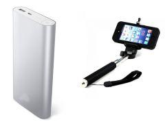 Shop or Gift Universal 16000 mAH Dual Charging Slot Power Bank & Monopod Selfie Stick Online.