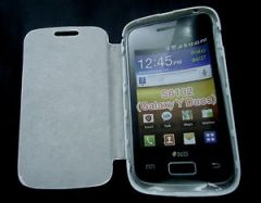 Samsung Galaxy Y Duos S6102 Flip Cover Book Case (White)