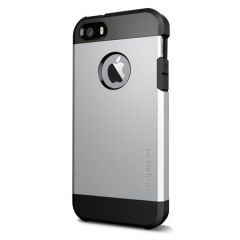 Spigen Tough Armor Hybrid Case For Apple IPhone 5 5S (Silver)