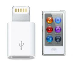 Apple iPod Cables - Apple iPod Nano 7th Gen Lightning to Micro USB V8 Adapter
