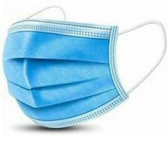 3 Ply Non-woven Three Layer Anti Pollutant & Anti-virus Surgical Disposable Face Mask Without Nose Pin