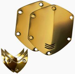 Headphone accessories - V-MODA Crossfade Over-Ear Headphone Metal Shield Kit, Gold