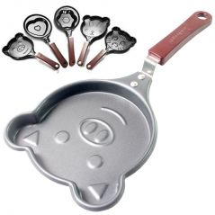 Mini Cartoon Shape/Design Non Stick Egg Frying Pan for Children - 01