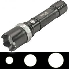 3 In 1 Rechargeable 1 LED 3 W Waterproof Flashlight Flash Light Torch -08