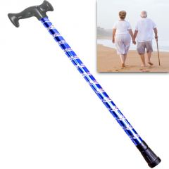 Aluminum Adjustable Folding Foldable Aluminum Walking Hiking Stick Tripod 3