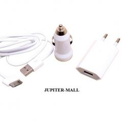 Travel Car Charger Data Cable iPhone iPod iPad 02