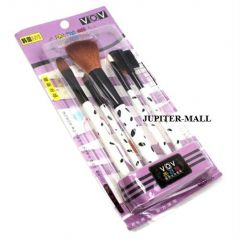 5 Pcs Make Up Brush Cosmetic Set Kit Case -04