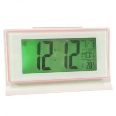 Voice Control Sound Sensor Calendar Alarm Table Clock Thermometer Timer-189