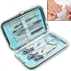 9in1 Nail Art Clipper Pedicure Manicure Tweezer Cutter Earpick Tool Set -19