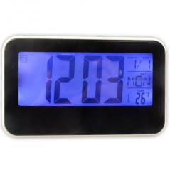 Voice Control Sound Sensor Calendar Alarm Table Clock Thermometer Timer-190