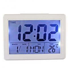 Voice Control Sound Sensor Calendar Alarm Table Clock Thermometer Timer192