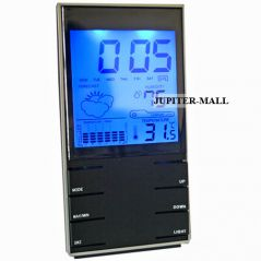 Digital Weather Station Hygrometer Thermometer Alarm Clock Table Desk -21
